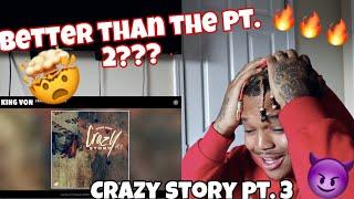 "King Von ""Crazy Story 3"" (Official Audio) REACTION | JessieT Tv"