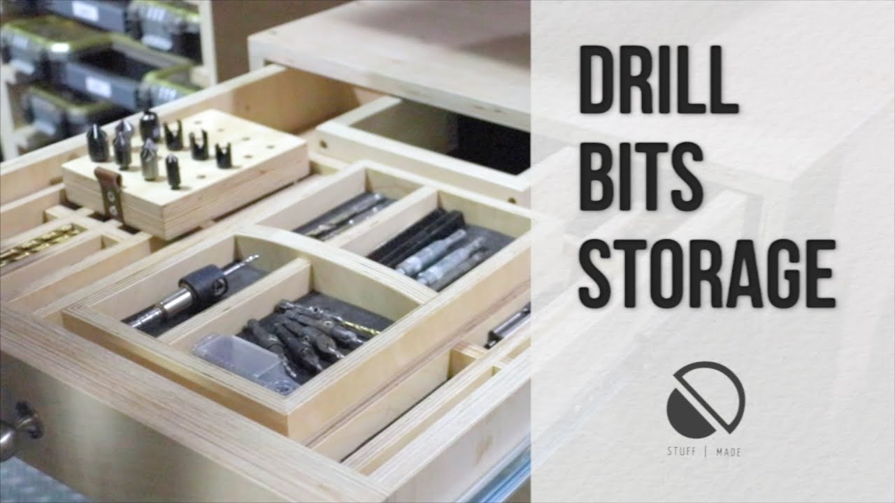 Drill Bit Storage Tray  YouTube