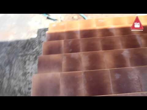 Облицовка крыльца клинкерной плиткой