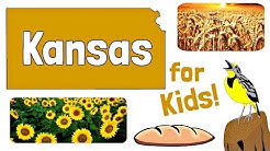 Kansas for Kids | US States Learning Video