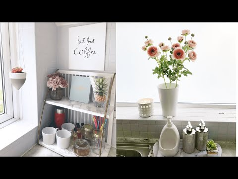 Home Decor Summer  2019| Fast and Simple Clean Declutter and Decorate with Me | Kitchen Summer 2019