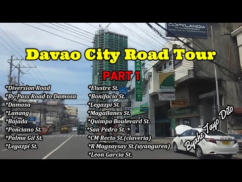 Davao City Road Tour Part 1