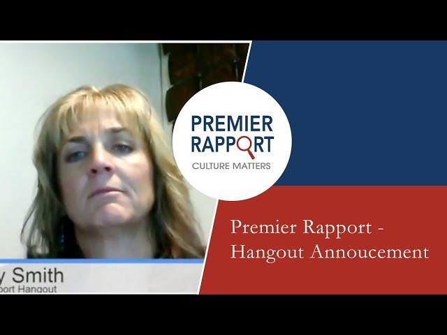 Premier Rapport - Hangout Annoucement