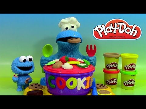 Play Doh Croque-Lettres de Macaron le Glouton Cookie Monster 's Letter Lunch