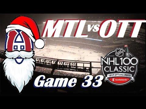 NHL - Montreal Canadiens at Ottawa Senators - NHL 100 Classic - December 16, 2017
