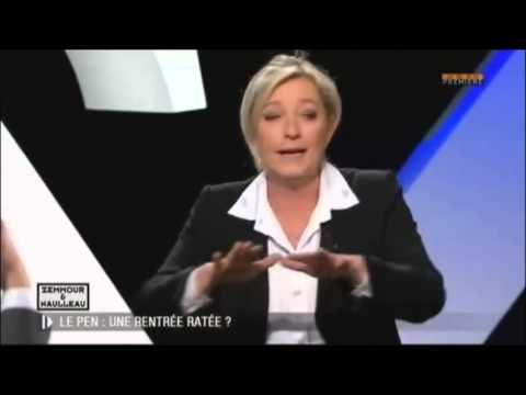 Intégral Zemmour  Naulleau Vs Marine Le Pen 12 janvier 2013
