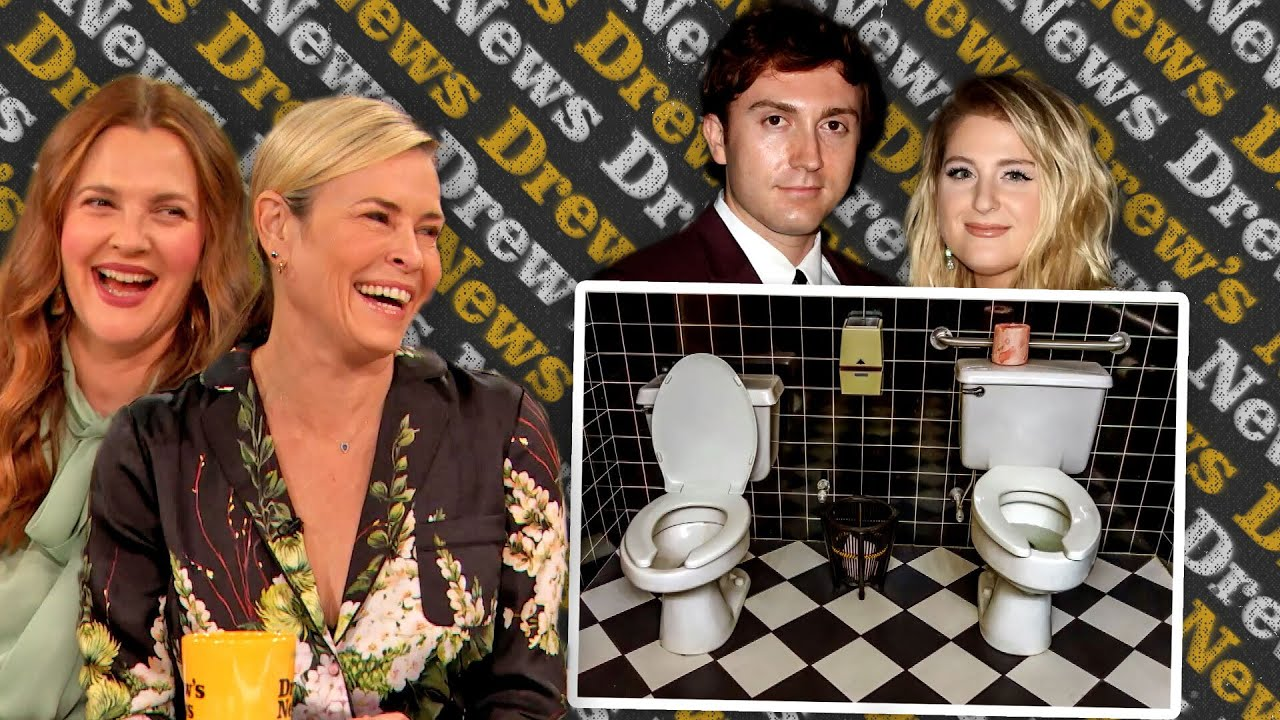Drew & Chelsea Handler React to Meghan Trainor and Her Husband's Side-By-Side Toilets | Drew's News