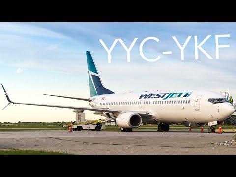 60fps Westjet Calgary Waterloo Boeing 737 8ct C Fbwi