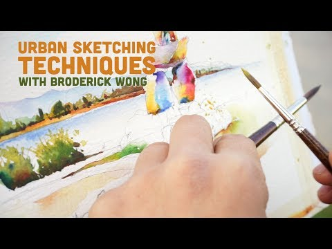 Urban Sketching Techniques: Painting a Watercolour Story with Broderick Wong
