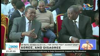 DP Ruto, Raila Odinga call for a united fight against graft