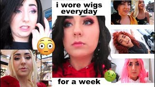 Wearing a Wig EVERYDAY for a Week | Hannah Forcier