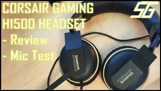 corsair gaming h1500 headset review mic test