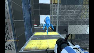 Portal 2: Co-op | Course 6 - Chamber 8 (Gel Maze) | In 0 Portals (World Record)