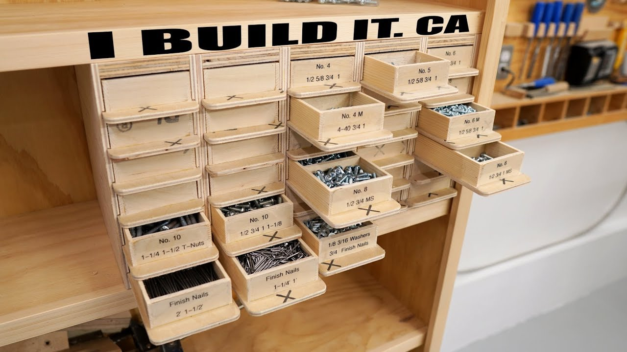Making This Screw Organizer 30 Drawers 120 Compartments