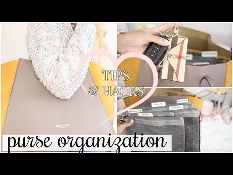 PURSE ORGANIZATION IDEAS 2018 | HOW TO GET ORGANIZED! | ORGANIZE WITH ME