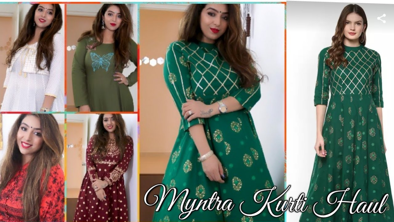 5986a0206f MYNTRA KURTI HAUL || INDIAN WEAR 2019|| AKS, Vishudh, Libas, La Firangi etc.