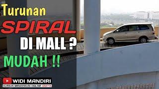 Cara tehnik belajar mengemudi mobil di turunan spiral dari mall - kursus mengemudi Widi Mandiri