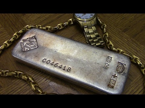 Johnson Matthey 50 oz Silver Bar Poured