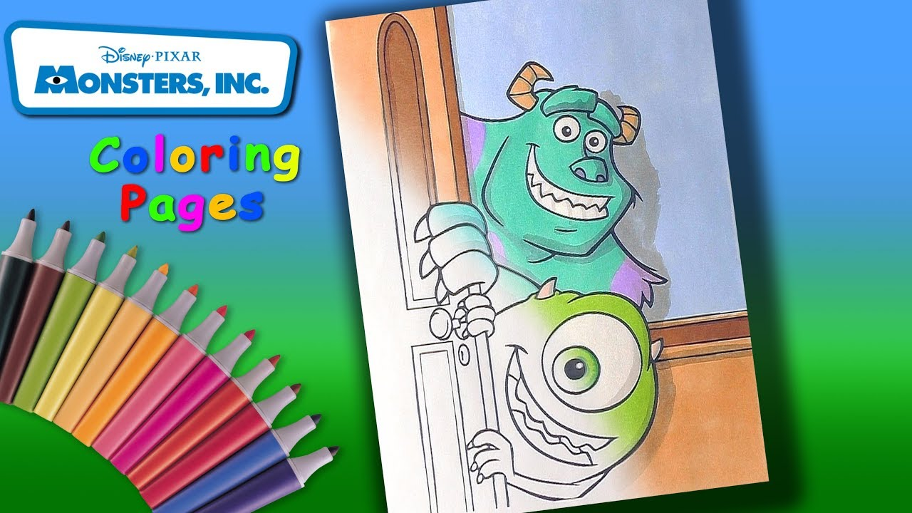 - Monsters, Inc. Coloring Book. How To Coloring Sulley And Mike