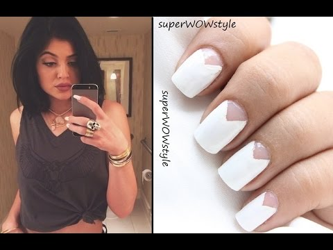 Kylie Jenner Inspired Cut Out Triangle Nail Art Design Nail