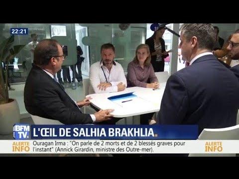 """L'œil de Salhia - François Hollande évoque sa fondation """"La France s'engage"""""""