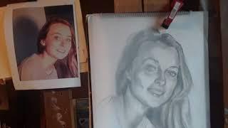 Olivia's Pastel Portrait