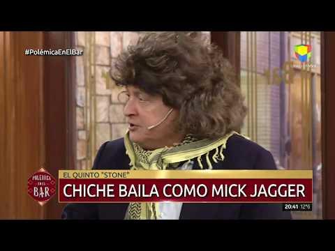 Chiche Gelblung bailó como Mick Jagger en Polémica