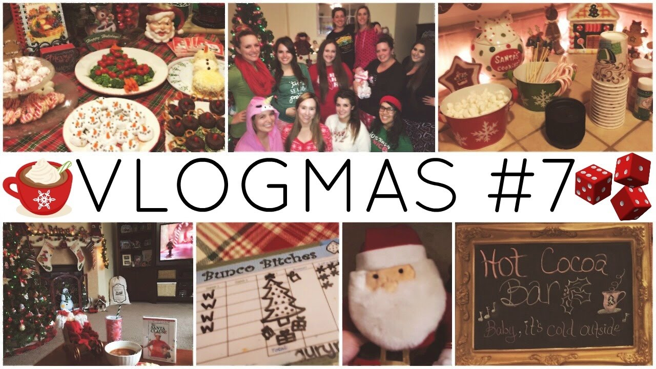 VLOGMAS #7 ♡ Christmas Bunco/Gift Exchange & Christmas Festivities ...