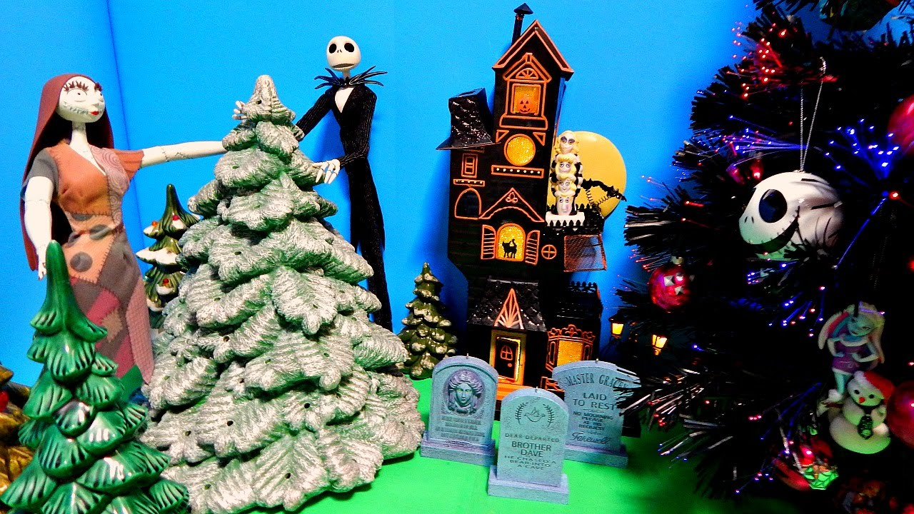 Nightmare Before Christmas Tree Monster High Ornaments Jack & Sally ...