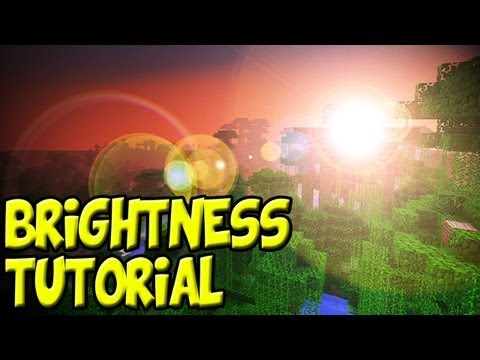 Minecraft 1.8 Tutorial: How to Increase Your Brightness  10,000% Change Gamma Settings