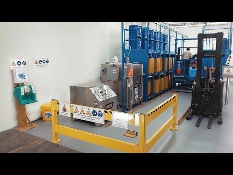 Forklift Battery Handling Systems: Operator-Aboard Forklift Battery Changer