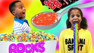 Pop Rocks Extreme CANDY Challenge Taste Test! SHASHA and SHILOH - Onyx Kids