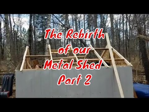 The Rebirth of our Metal Shed part 2