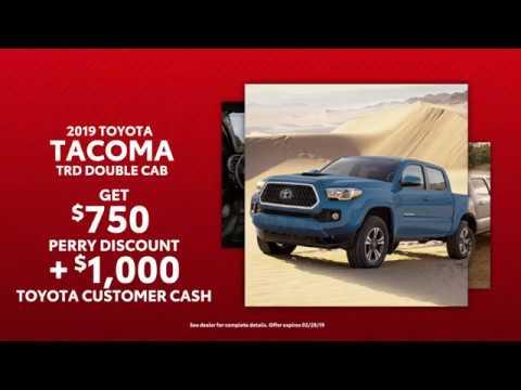2019 Toyota Tacoma & 2018 Toyota Highlander Deals - Perry Motors