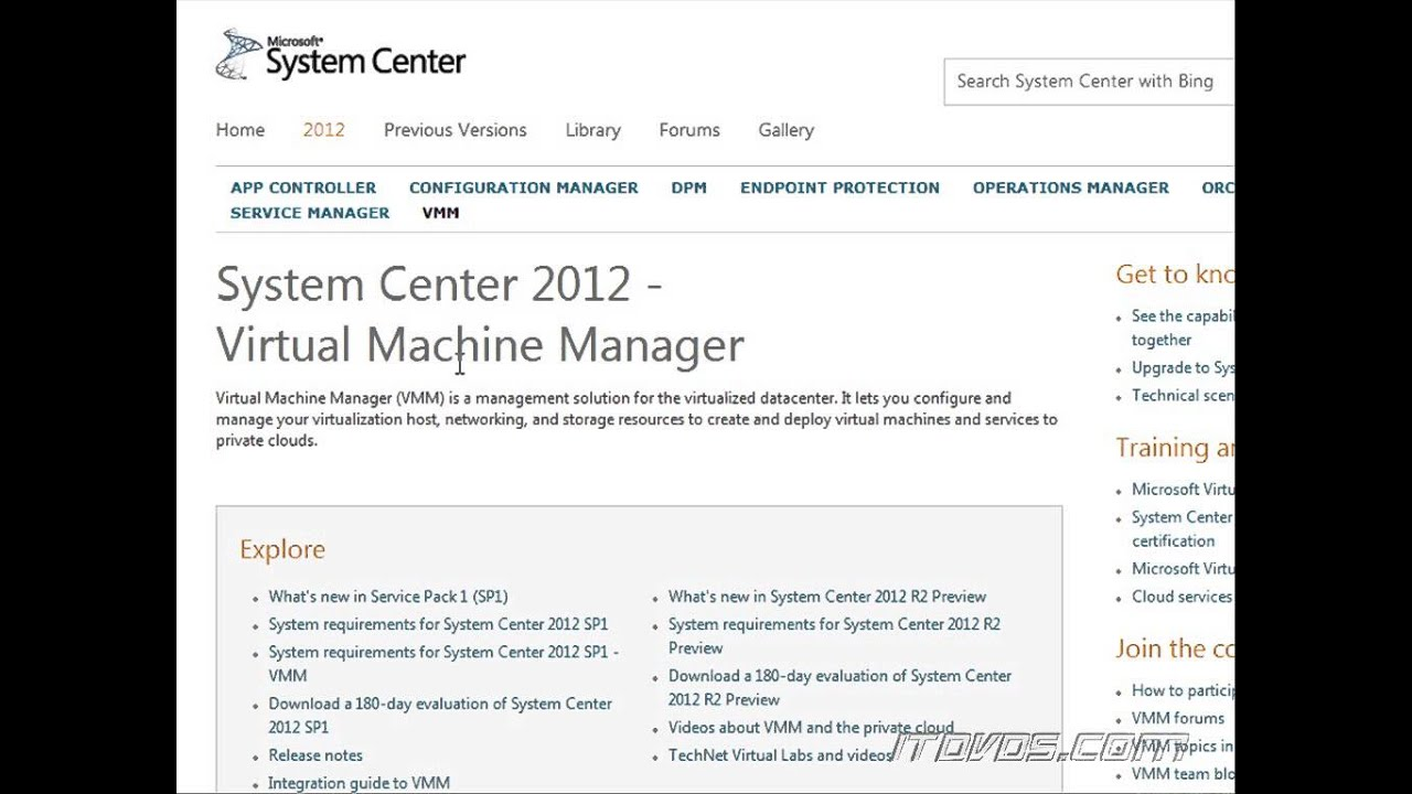 What is System Center Virtual Machine Manager?