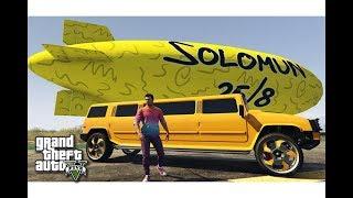 قراند 5 : شراء سيارة همر ليموزين و منطاد عملاق !!