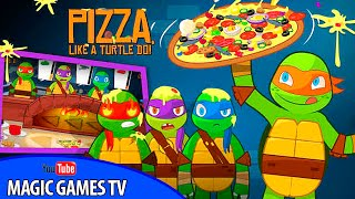 Teenage Mutant Ninja Turtles Pizza Like A Turtle Do  - TNMT Cartoon Movie Game