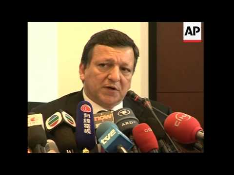 European Commission Pres Barroso meets Wen; presser; Mandelson