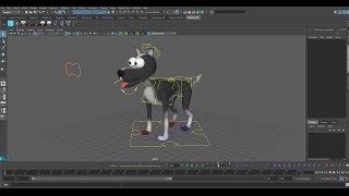 Maya Speed Art - realización de un Perro de dibujos animados