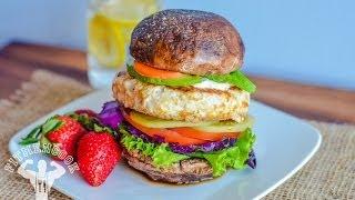 Low Carb Chicken Salad Burger  Hamburguesa de Ensalada con Pollo