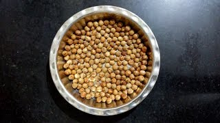 Roasted Crunchy Chickpeas Without Oil | Crunchy Garbanzo Beans | Roasted In Salt Without Oven