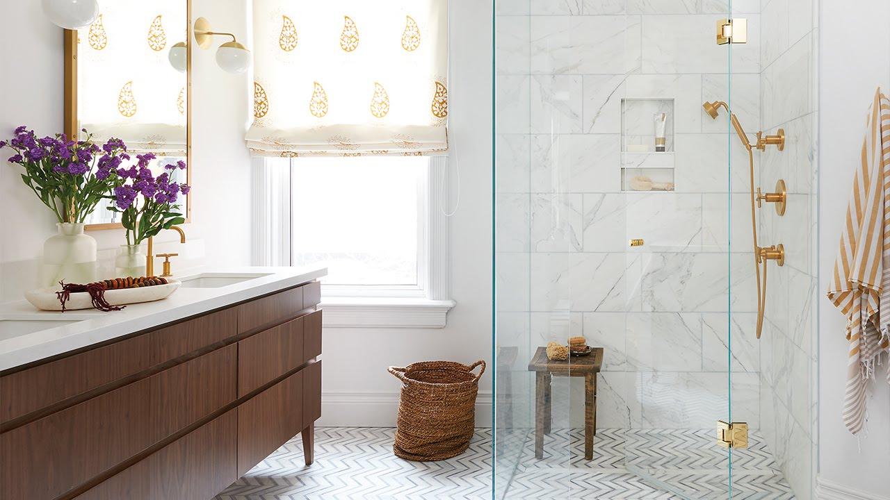 boho bathroom.  Interior Design A Bright Bathroom Oasis With Boho Vibe YouTube