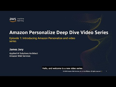Introduction to Amazon Personalize