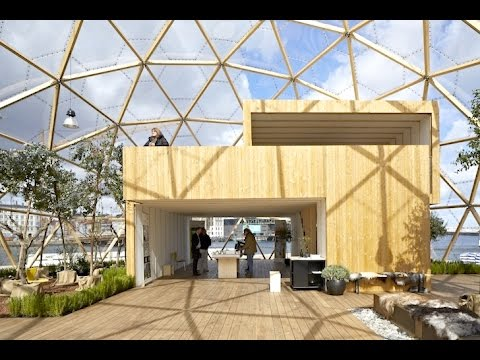 "Dome of Visions: Mobile Greenhouse Studio Boasts a Facade of CNC-Cut ""Fish Scales"" in Copenhagen"