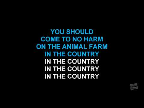 Country House in the style of Blur karaoke video with lyrics