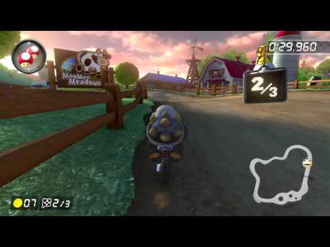 Wii Moo Moo Meadows [150cc] - 1:25.717 - Cole (Mario Kart 8 Deluxe World Record)