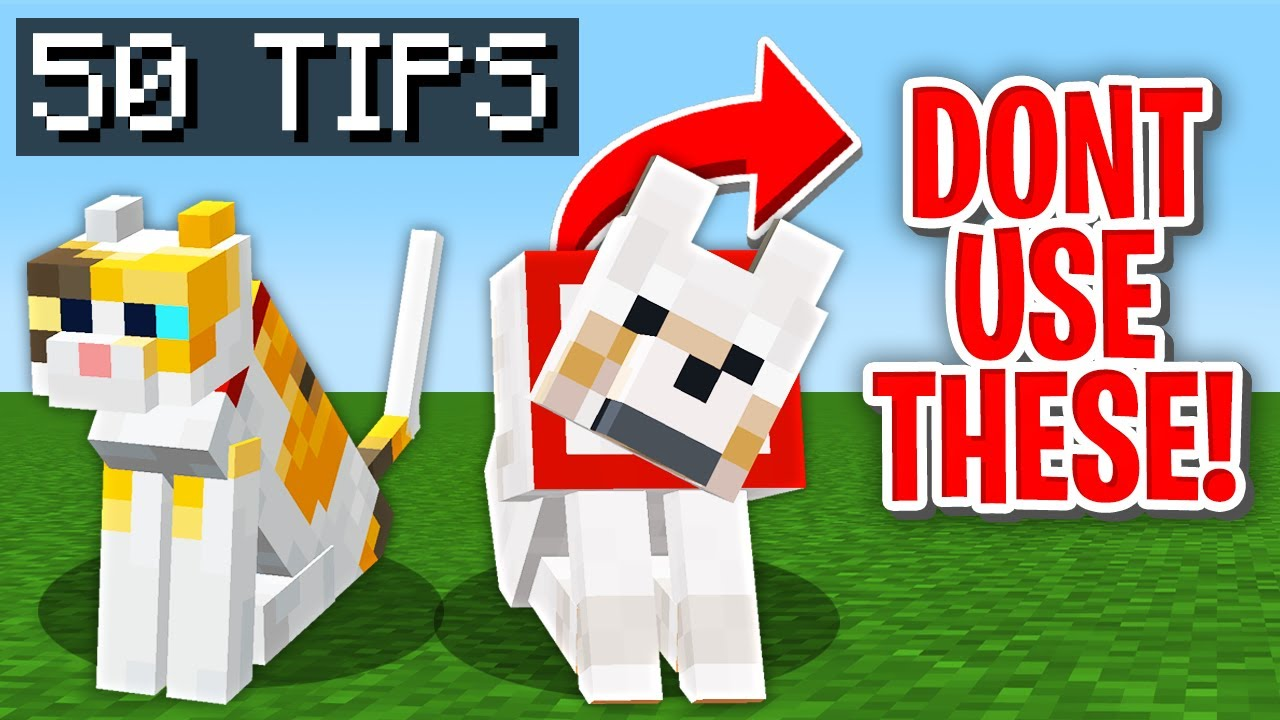50 TIPS AND TRICK To Survive 100 Days in Hardcore Minecraft