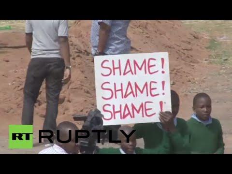 Kenya: Police TEAR-GAS school children at playground protest