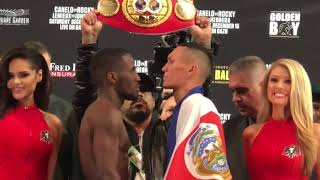 Tevin Farmer vs Francisco Fonseca FACE OFF at WEIGH IN