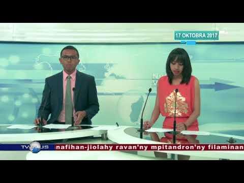 VAOVAO DU 17 OCTOBRE 2017 BY TV PLUS MADAGASCAR